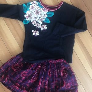 Tea Collection /Joe Fresh Holiday Sweatshirt Skirt